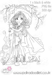 Red Riding Hood - Digital Craft Stamp download