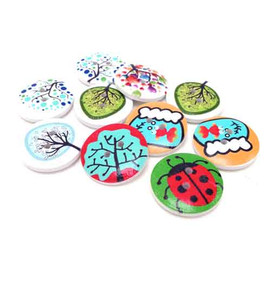 Nature Wooden Button Embellishments (10)