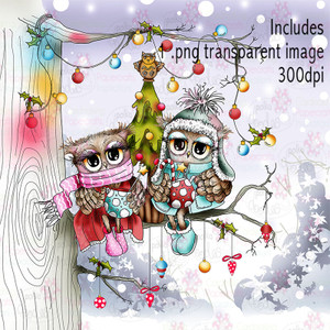 Twiggy & Toots Hot Chocolate Festive Fun - Digital Craft Stamp Download