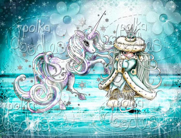 Ice Queen Unicorn - Octavia Frosted Winter - Digital CRAFT Download