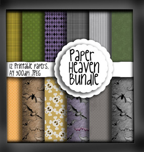 Halloween/Autumn Paper Heaven 1 - digital download bundle