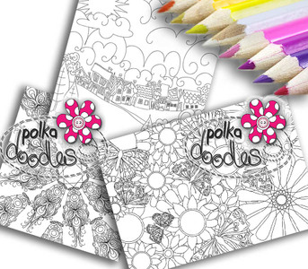 Adult Colouring pages bundle 3 - Downloadable Adult printable Colouring Book Pages