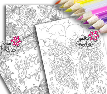 Adult Colouring pages bundle 13 - Downloadable Adult printable Colouring Book Pages