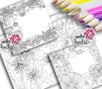 Adult Colouring pages bundle 14 - Downloadable Adult printable Colouring Book Pages