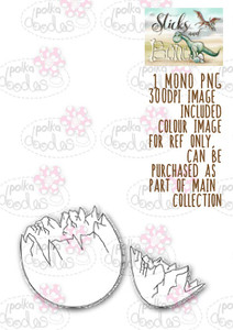 Sticks & Bones - 4 Dinosaur eggs - Digital CRAFT Download
