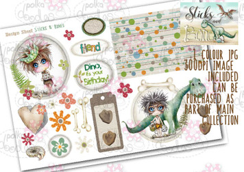 Sticks & Bones - Design Sheet 1  - Digital CRAFT Download