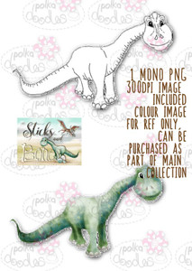 Sticks & Bones - Brontosaurus Dinosaur  - Digital Stamp CRAFT Download