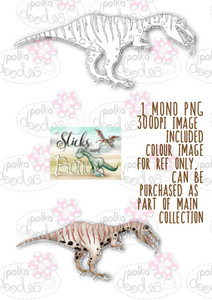 Sticks & Bones - Dinosaur 7 - Digital Stamp CRAFT Download