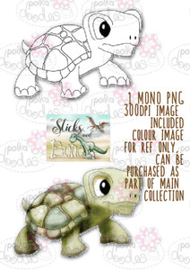 Sticks & Bones - Dinosaur Tortoise Turtle 4 - Digital Stamp CRAFT Download