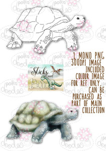 Sticks & Bones - Dinosaur Tortoise Turtle 5 - Digital Stamp CRAFT Download