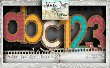 Sticks & Bones - Alphabet 2 - Digital Stamp CRAFT Download