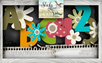 Sticks & Bones - Alphabet 6 - Digital Stamp CRAFT Download