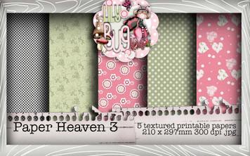 Lily Bug Love Paper Heaven 3 bundle kit (5 papers) - Digital Stamp CRAFT Download