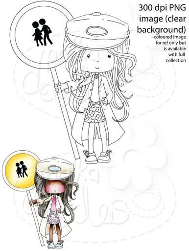 Lollipop Lady School Crossing Patrol/Security Guard Digital Stamp