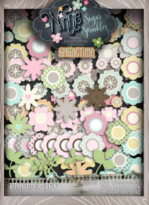 Winnie Sugar Sprinkles Blooms Bundle - Printable Crafting Digital Stamp Craft Scrapbooking Download