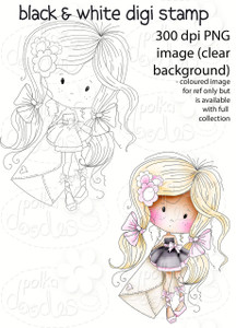 Wishes - Winnie Fruit Punch Printable Digital Craft Stamp Download, digiscrap