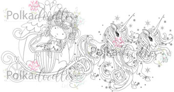 Princess Carriage - digital craft Stamp download
