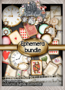 Winnie in Wonderland Ephemera bundle