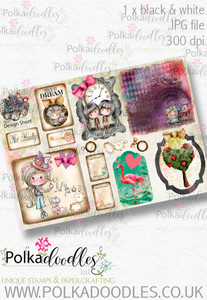 Winnie Wonderland Design Sheet 3 - Printable Digital download