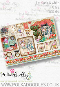 Winnie Wonderland Design Sheet 9 - Printable Digital download