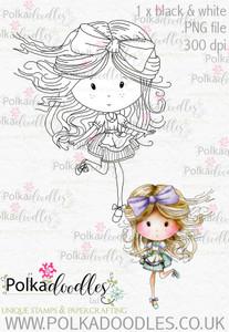 Winnie Wonderland Hurry - Printable Digital stamp download