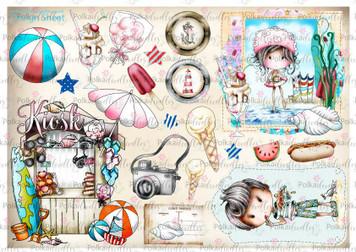 Winnie Starfish/Sandcastles Design Sheet 2 DOWNLOAD