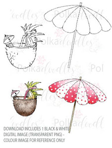 Winnie Starfish/Sandcastles - Drinking Coconut/Parasol/Umbrella DOWNLOAD