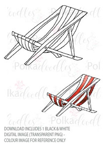 Winnie Starfish/Sandcastles - Deckchair DOWNLOAD