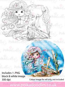 Meribelle Housework - digital craft stamp download
