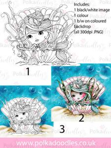 Meribelle Pearl 3-for-2digital craft stamp download