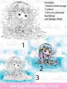 Meribelle Rock It 3-for-2 digital craft stamp download
