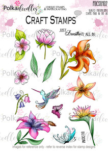 Tropical Flowers 1 Clear Stamp set