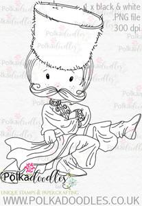 Cossack Russian Dancer 2 - Digital Stamp Download