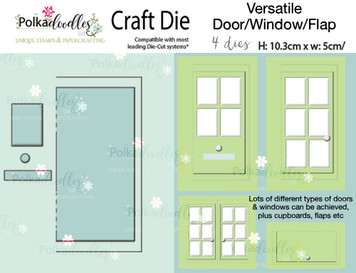 Versatile door/window/flap craft cutting die