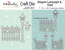 Elegant Lamplight & gate - Craft cutting die