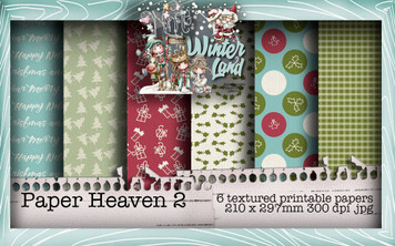 Baked With Love - Paper Heaven 2 digital craft paper download