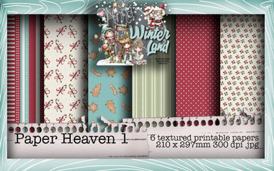 Baked With Love - Paper Heaven 1 digital craft paper download