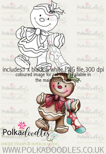 Baked With Love - Gingerbread stocking digital craft download