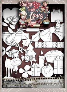 Baked With Love Digi Stamps