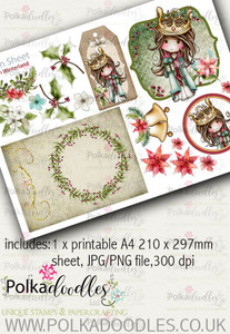 7Winnie Winterland - Design Sheet 7 digital craft papers download