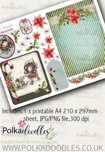 Winnie Winterland - Design Sheet 8 digital craft papers download