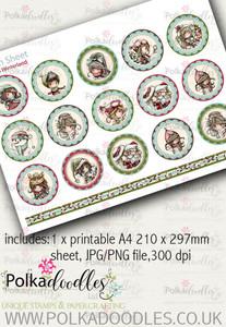 Winnie Winterland - Design Sheet 13 digital craft papers download