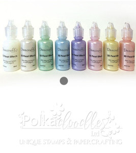 Pastel Blue - Dovecrafts 3D Pearl Effects Glue 20ml
