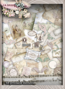 Belle Papillon Ephemera  - Download Printables