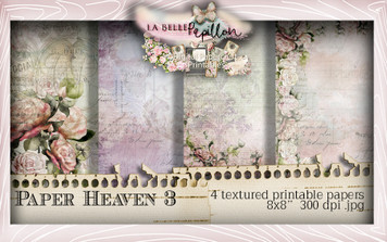 Belle Papillon Papers 3  - Download Printables
