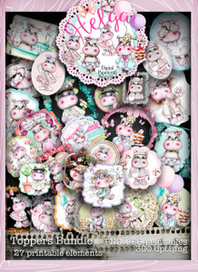 Helga Hippo Toppers download bundle