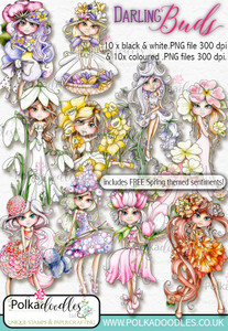 The Darling Buds Big Bundle - Digital Craft Digi Stamp DOWNLOADS