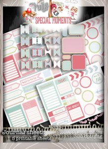 Digi journal planner tabs/printable sticker - Winnie Special Moments...Craft printable download digital stamps/digi scrap kit