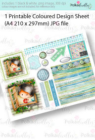 Contemplating, Thinking, window Boy. Coloured Card making Design Sheet - Winnie Special Moments...Craft printable download digital stamps/digi scrap kit