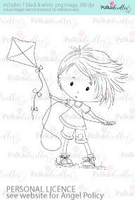 Let's Fly a Kite boy coloured digital stamp/clipart- Winnie Special Moments...Craft printable download digital stamps/digi scrap kit